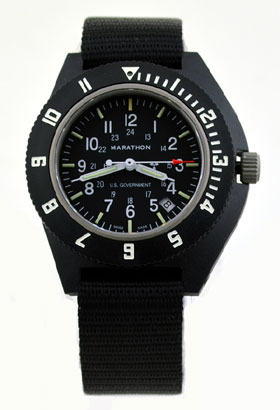 Marathon Military Navigator Quartz Date Tritium Watch