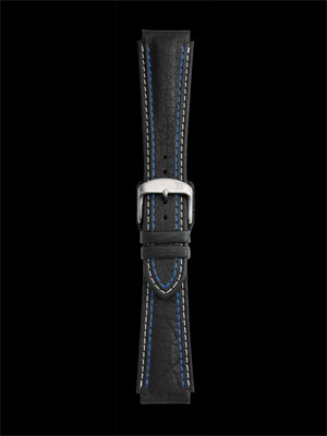 Damasko 20MM Strap with blue and white stitch and pin buckle
