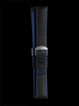Damasko Robby Blue 22mm Rubber Leather Strap