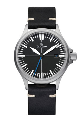 Damasko DS30 Submarine Steel Automatic Watch with Blue Hand