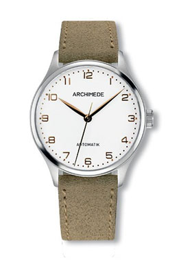 Archimede Klassic 36 Silver Dial Automatic Watch UA4929-A3.37