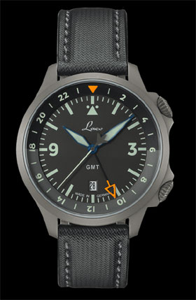 Laco Frankfurt GMT Schwarz Automatic Watch 862120