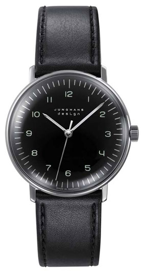 Junghans Max Bill Hand Wound Black Dial Watch 027/3702.00