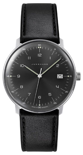 Junghans Max Bill Quartz Black Dial Watch 041/4462.00