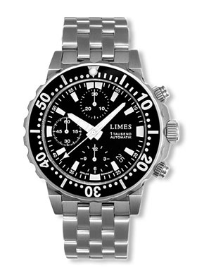 Limes Endurance 1 Tausend Automatic Chronograph Dive Watch U8797B-LC2.1