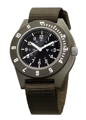 Marathon Sage Green Military Navigator Quartz Tritium Watch