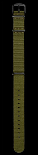 Damasko 20mm Green Nato Strap with Black Buckle
