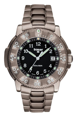 Traser H3 P6506 Commander 100 Force Titanium Tritium Watch