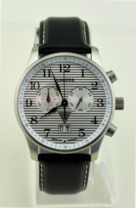 Junkers JU52 Silver Chronograph Watch 6286-1