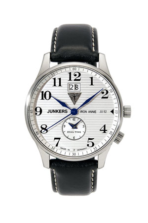 Junkers Iron Annie Big Date GMT Watch 6640-1