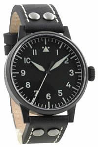 Laco Black Aviator Quartz Pilot Watch