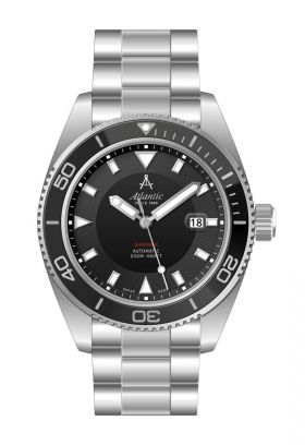 Atlantic Mariner 44mm Automatic Black Dial Divers Watch