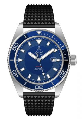 Atlantic Mariner 44mm Automatic Blue Dial Divers Watch