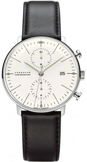 Junghans Max Bill Chronoscope Silver Dial Automatic Chronograph Watch 027/4600.00