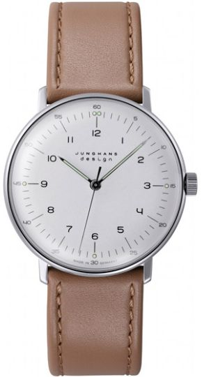 Junghans Max Bill Hand Wound Silver Dial Watch 027/3701.00