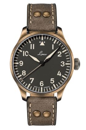 Laco Augsburg Olive 42 Automatic Pilot Watch 862127