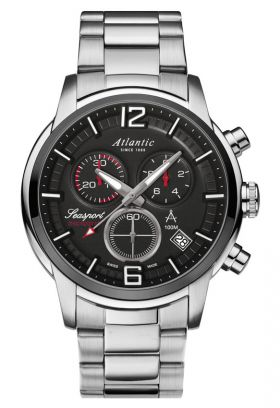 Atlantic Seasport Anthracite Dial Sport Chronograph Watch 87466.42.45