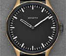 Defakto Akkord Modular Bronze Black Dial Automatic Watch