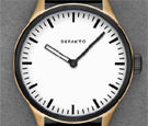 Defakto Akkord Modular Bronze White Dial Automatic Watch