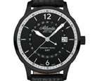 Atlantic Speedway Royal GMT Dual Time Black Dial Watch