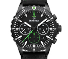 Damasko DC86 Green Black Chronograph Watch