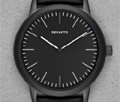 Defakto Dialog Superluminova Black Dial Watch