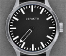 Defakto Eins Black Dial Automatic Watch