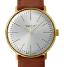 Junghans Max Bill Hand Wound Silver Dial Watch 027/5703.04