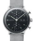 Junghans Max Bill Black Dial Chronoscope Watch 027/4500.45