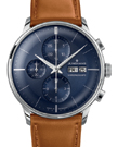 Junghans Meister Chronoscope Sunray Blue Dial Day Date Watch 027/4526.01
