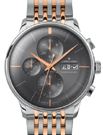 Junghans Meister Chronoscope Sunray Dark Grey Dial Day Date Watch 027/4527.45