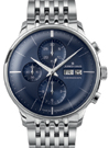 Junghans Meister Chronoscope Sunray Blue Dial Day Date Watch 027/4528.45