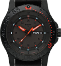 Traser Red Combat Tritium Watch