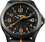 Traser P67 Officer Pro GunMetal Black Orange Watch