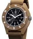Marathon Desert Tan Military Navigator Quartz Tritium Watch