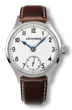 Archimede Silver Dial Hand Wound Marine Deck Watch UA7929-H1.2