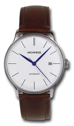 Archimede 1950'S Silver Dial Automatic Dress Watch UA8069-A1.2