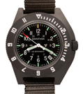 Marathon Military Navigator Quartz Date Tritium Watch-Green