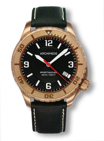 Archimede sporttaucher bronze automatic dive watch ua8974 - Bronze dive watch ...