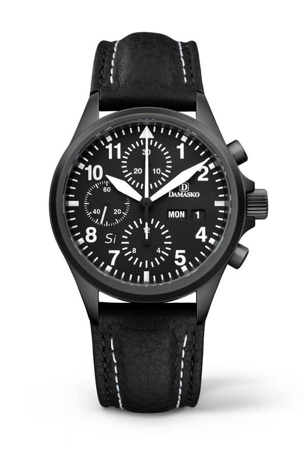 Damasko dc 56 si black automatic chronograph watch damasko watches dc56siblack for Damasko watches