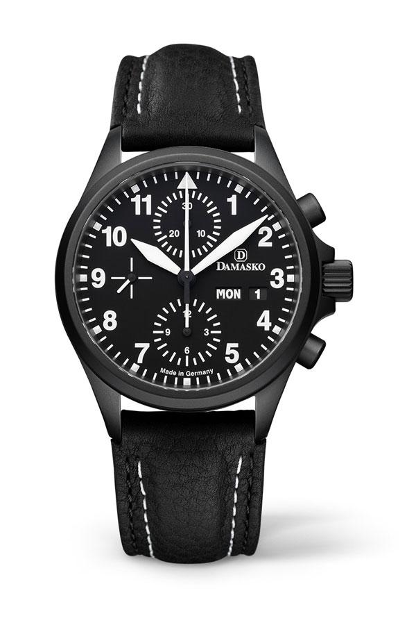 Damasko dc56 black automatic chronograph watch damasko watches dc56black for Damasko watches