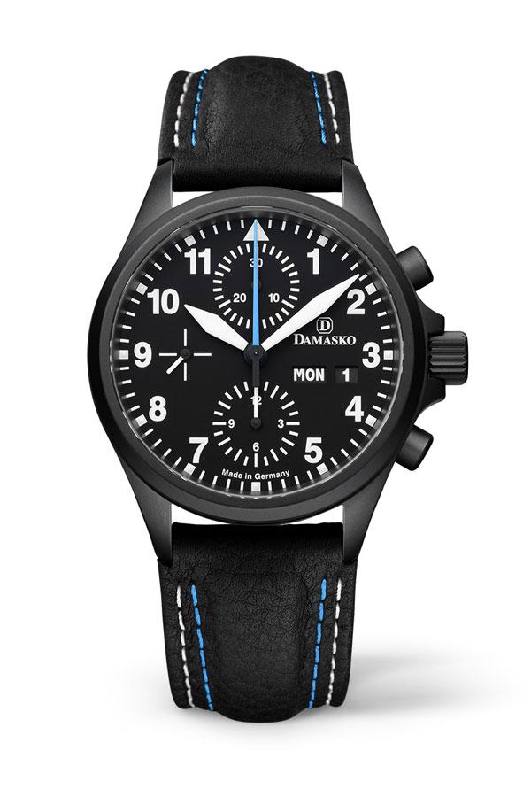 damasko dc58 black automatic chronograph damasko