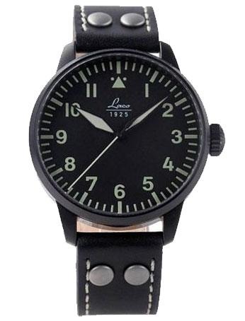 4fb32226000 Laco Altenburg Black Case Automatic Pilot Watch