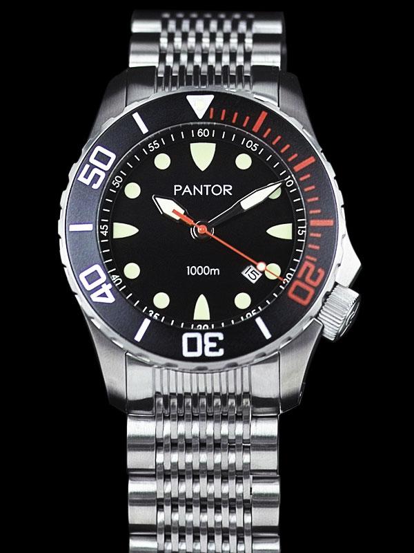 Pantor seahorse black bezel automatic dive watch pantor watches seahorseblackbezel for Diver watches